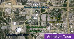 Cowboy Stadium, The Ballpark in Arlington, Six Flags Over Texas and Hurrican Harbor in Arlington, Texas.