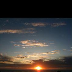 Agadir, Morocco, Sunset over the Atlantic.