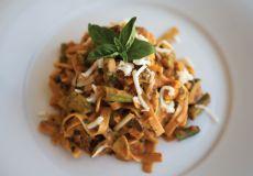 Creamy Tomato Pasta Primavera   Food Storage Recipes   This zesty pasta is brimming with veggies