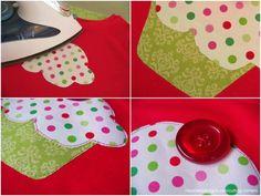 cupcake applique pattern