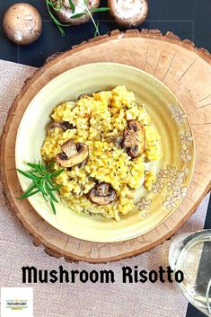 Vegan Mushroom Risotto Recipe!  #vegan #glutenfree #healthyrecipes #healthyliving
