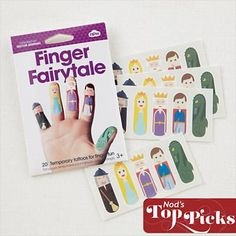 Kids Toys: Tattoo Fairy Tale Finger Puppets in Stocking Stuffers