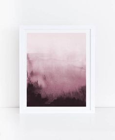INSTANT DOWNLOAD: OVERSIZED, Pink Abstract Art Print. Prints up to 30x40 (high resolution 300 dpi). This print was created from an abstract painting made by me using watercolor paints. I am a graphic designer so you can rest assured that your artwork was created with attention to