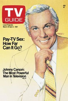 TV Guide March 28, 1981 - Johnny Carson of The Tonight Show. Illustration by Richard Amsel.