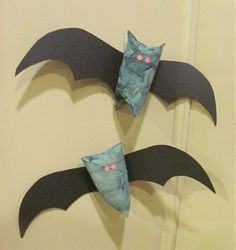 toilet paper tube bats. The boys will love  to make them.
