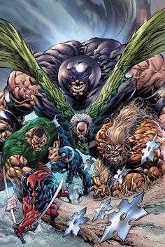 Marvel Villains by Mike Deodato Jr Marvel Comic Universe, Marvel Comics Art, Comics Universe, Marvel Comic Character, Comic Book Characters, Comic Book Heroes, Marvel Villains, Marvel Heroes, Captain Marvel