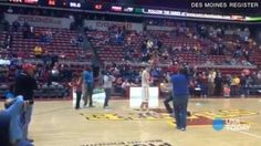 Sweetest thing EVER. Iowa State basketball player gets engaged on court after win (VIDEO)
