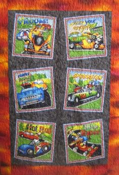 Cars Racers and Hot Rods Baby Quilt / Toddler by GREAT Quiltations