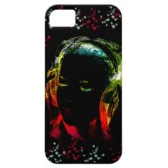 Girl Listening to Music Headphones in Neon Colors iPhone 5 Case #iphone5 #iphonecases #zazzle #prettypatterngifts www.PrettyPatternGifts.com