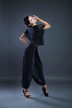 Ladies Ballroom and Latin dance top with chiffon from Dancewear For You Ballroom and Latin Dancewear Australia