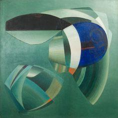 John Ferren, Composition 1936, oil on linen, 38.5 x 38.375 inches