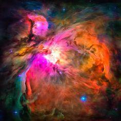 Space Image Orion Nebula by Matthias Hauser