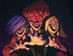 Ed, Edd n' Eddy - The Kanker sisters: Marie, Lee & May - Fanart (by bloochikineene on Tumblr)