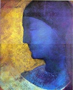 Odilon Redon, Blue profile   on ArtStack #odilon-redon #art