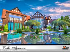 Villa Nipawan NoCC by Autaki from TSR for The Sims 4
