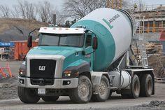 Thomas Cavanagh Construction Limited 13 Lafarge CAT twin steer cement London mixer truck Ottawa, Ontario Canada 04192013 ©Ian A. Heavy Duty Trucks, Big Rig Trucks, Heavy Truck, Semi Trucks, Equipment Trailers, Logging Equipment, Heavy Equipment, Caterpillar Toys, Cement Mixer Truck