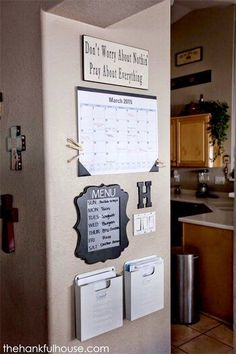 """Hidden"" Family Command Center For Staying Organized - One Good Thing by Jillee"