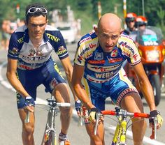 Marco Pantani and Richard Virenque en Andorre, 15 juillet 1997