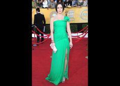 Emily Blunt in a gorgeous green Oscar de la Renta