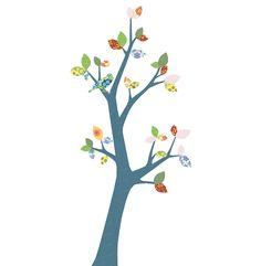 behangboom #3 - Wallpaper decals, wallpaper Trees, Birdhouse Lamps and other original designs by Inke Heiland ©