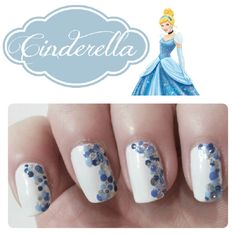 Nails inspired by Disney Princesses