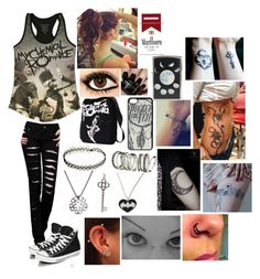 """""""Kick Me - Sleeping With Sirens"""" by leia-albin ❤ liked on Polyvore featuring Converse, Nails Inc., Tiffany & Co., H&M and Zippo"""