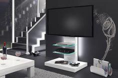 nowoczesny stolik, szafka na wysoki połysk - MARINO - HUBERTUS