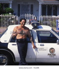 Download this stock image: RELEASE DATE: 10 November 2002. MOVIE TITLE: Nightstalker - STUDIO: Smooth Pictures. PLOT: A horror film based on the life of Richard Ramirez, aka the Night Stalker, who terrorized people in the Los Angeles area during the mid-1980s. PICTURED: DANNY TREJO as Officer Frank Luis. - F6J288 from Alamy's library of millions of high resolution stock photos, illustrations and vectors.