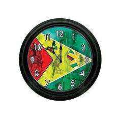 GUYANA COAT ED OF ARMS FLAG WALL CLOCK | Home & Garden, Home Décor, Clocks | eBay!