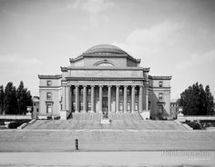 The Low Library, Columbia University, New York, N.Y. photographed by the Detroit Publishing Company in 1905 on 8x10 glass plate negative.