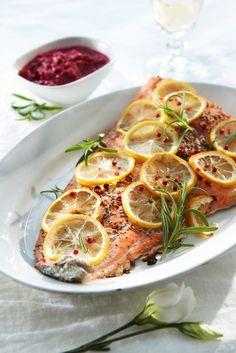 Rosmariinilohta ja punajuuripyreetä | K-ruoka #juhlapöytään