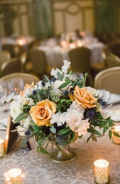 Elegant Washington DC Wedding at The Willard - floral design: Loda Floral Design; wedding centerpiece idea