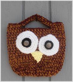 Owl Tote Bag by DebbieCrochets