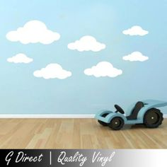 18x Cloud Wall Stickers Vinyl Decals Children's Room Nusery Boys Girls Transfer white by G Direct, http://www.amazon.co.uk/dp/B00ESK2380/ref=cm_sw_r_pi_dp_ylpxtb1J8RVWZ