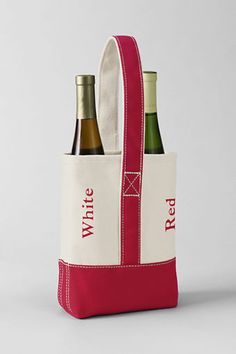 Gifts Under $30: Double Canvas Wine Tote from Lands' End - $25