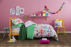 Tea Time Kids Bedding by Kas Kids Little girls love to have Kitty party, This range will give them wonderful ideas to arrange them. Tea Time Kids Bedding by Ka Kids Bedding Sets, Baby Girl Bedding, Quilt Cover Sets, Quilt Sets, Kids Beds For Boys, Bed Sheet Sets, Soft Furnishings, Linen Bedding