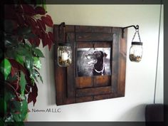 Mason Jar Lantern Decor/Rustic Picture Frame/Country Picture Frame/Rustic Home Decor/Dark Walnut/Shipping Included: Item# PLP-4700 by NaturesAllLLC on Etsy https://www.etsy.com/listing/245172976/mason-jar-lantern-decorrustic-picture