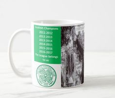 Celtic 2017 Scottish league winners mug Brendan Rodgers ceramic 11oz #repersonalisedprinting