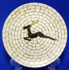 Heide Mosaic Decorative Plate Deer Antelope Denmark $6.00