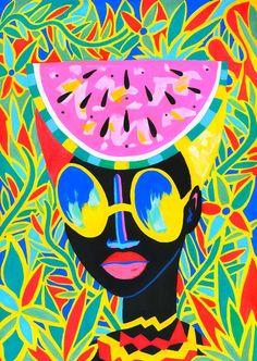 Bold Inspired Tanzanian inspired illustrations by Lynnie Zulu