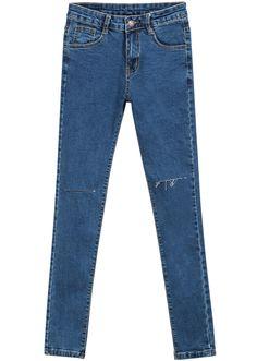 Blue Pockets Cut Slim Denim Pant 18.17