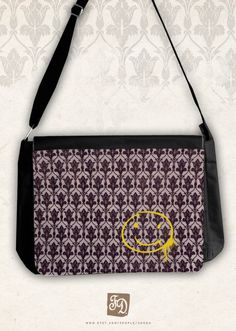 SHERLOCK HOLMES big messenger bag by FeerieDoll on Etsy, $49.00 omg i need this for school!