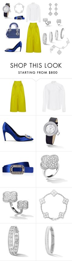 """""""Untitled #864"""" by a-h-a ❤ liked on Polyvore featuring Delpozo, Roger Vivier and Van Cleef & Arpels"""