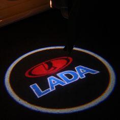 2X coche proyector láser Logotipo de la Sombra del Fantasma de la Luz de ajuste universal Para Lada priora kalina granta samara niva vaz largus 2106 2107 2110