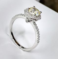 canary solitaire ring