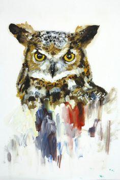 "Saatchi Online Artist Isobel Wood; Painting, ""animal 4"""