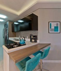 . Living Room Kitchen, Kitchen Dining, Kitchen Decor, Small Dining, Decoration, Interior Design Living Room, Home Furnishings, Sweet Home, New Homes