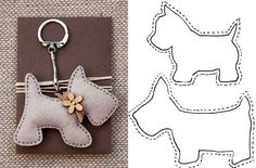 lovely felt dog patterns, for key ring or i can image the poodle hanging from a Paris bag as a charm, so cute 20 moldes que vc precisa ter Free sewing pattern for doggie keychains Fifi the French Poodle - made of felt and pom poms Hay q probaaaar! Felt Crafts Patterns, Fabric Crafts, Sewing Toys, Sewing Crafts, Felt Christmas, Christmas Crafts, Hobbies And Crafts, Diy And Crafts, Craft Projects