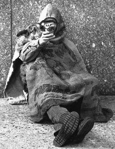 Hawaii Homeless Man and Dog