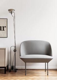 Scandinavian Interior Design: Oslo chair from Muuto Living Room Inspiration, Furniture Inspiration, Interior Inspiration, Pouf Design, Chair Design, Design Furniture, Home Furniture, Danish Furniture, Greige